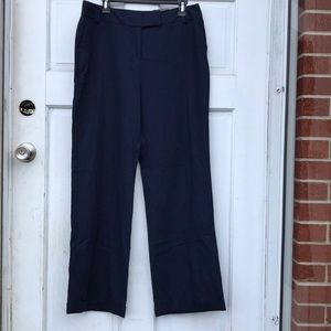 NWT Cato Classic Navy Blue Wide Leg Dress Pants 12